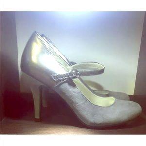 WORTHINGTON Sz 6.5 M Easton Gray Mary Jane Heels